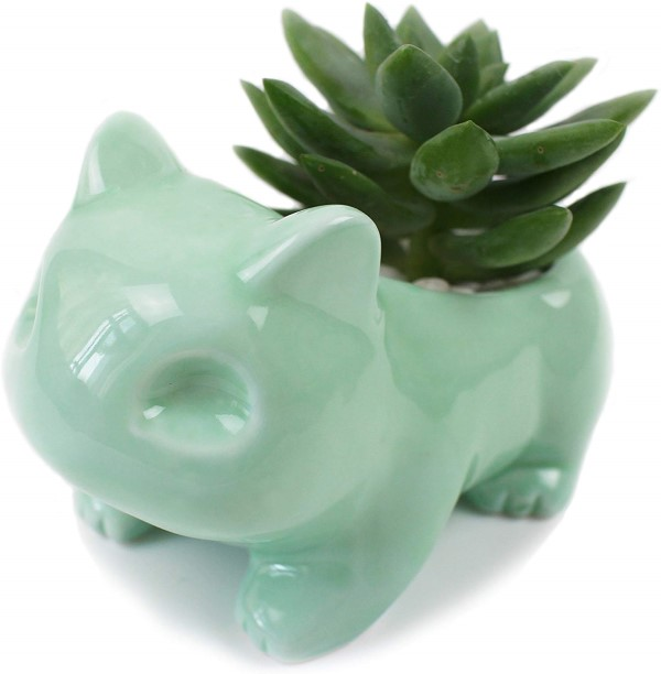 bulbasaur ceramic flower pot
