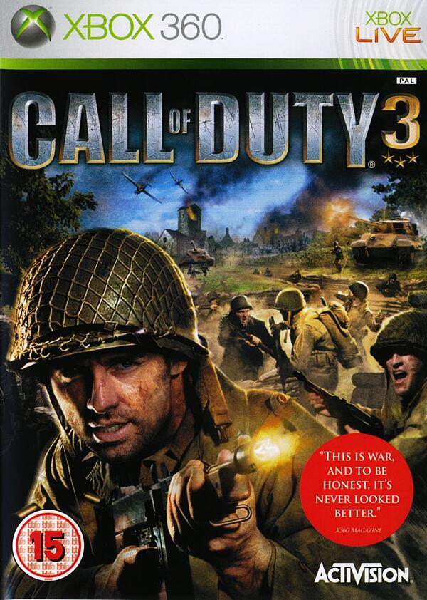Call of Duty 3 released on November 7, 2006.