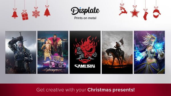 displate prints on metal christmas presents
