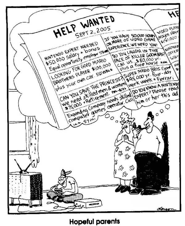 farside hopeful parents gaming cartoon