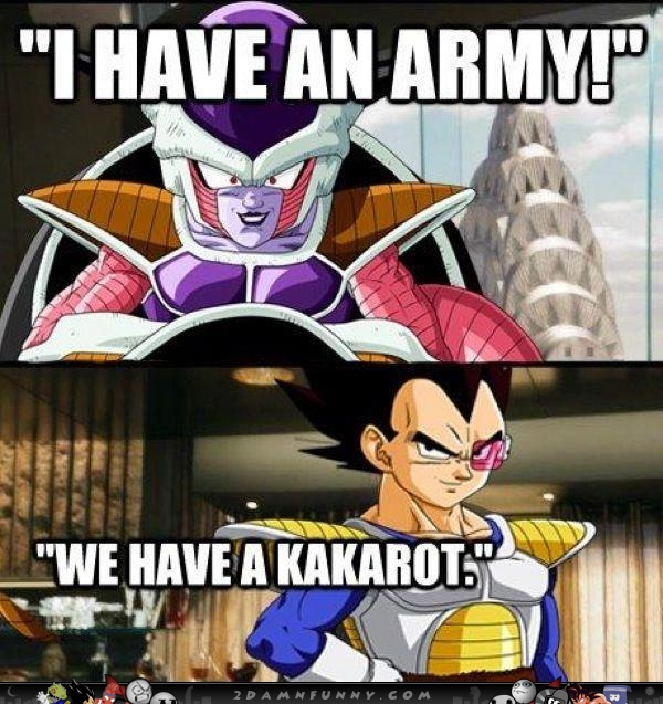 Frieza and Vegeta we have a Kakarot Dragon Ball Z meme