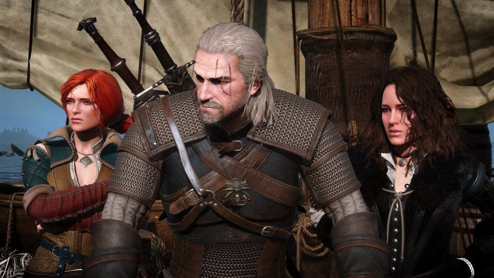 geralt, yen, and triss from the witcher series