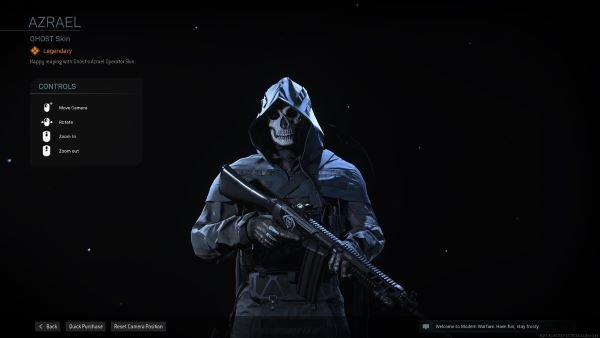 Ghost Azrael skin in Call of Duty Warzone