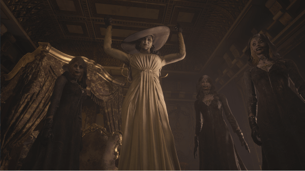 Lady Dimitrescu and her council of monsters from Resident Evil Village