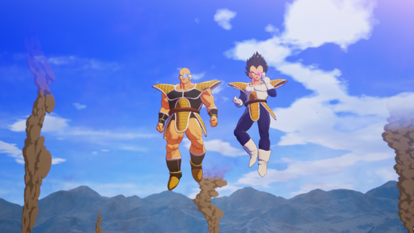 nappa and vegeta in dragon ball z kakarot