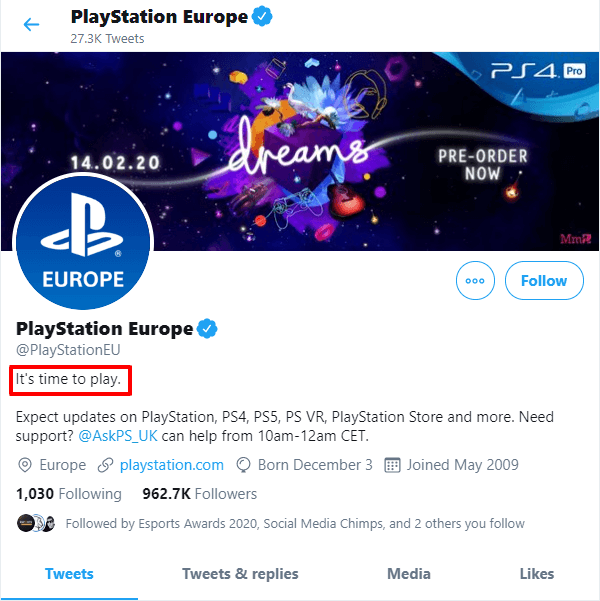 official-playstation-europe-twitter-bio