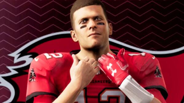 Tampa Bay Buccaneers QB Tom Brady in Madden 21.