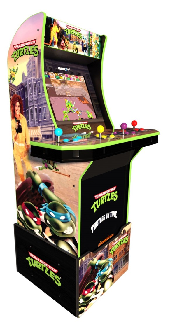 teenage mutant ninja turtles arcade machine with riser