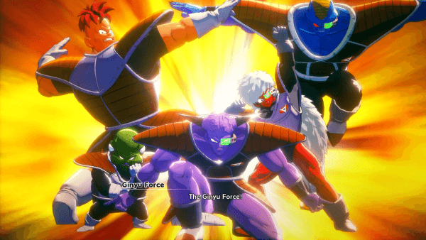 The Ginyu Force in Dragon Ball Z Kakarot