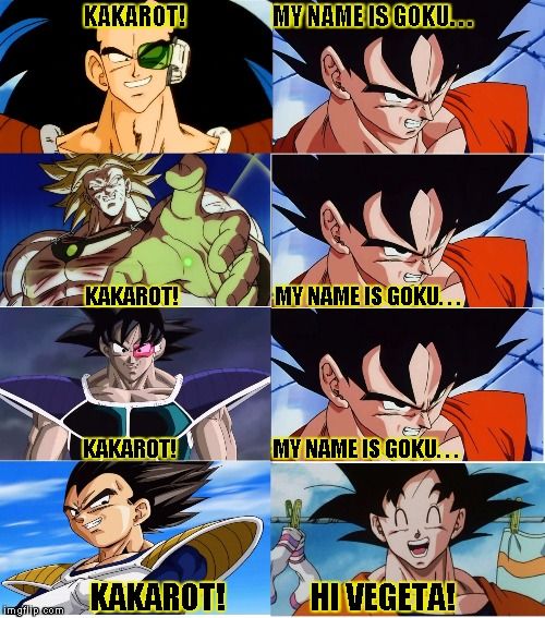 Vegeta and Goku Dragon Ball Z Kakarot meme