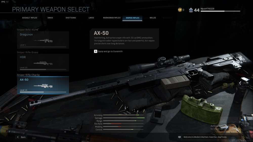 ax-50 sniper rifle from call of duty modern warfare