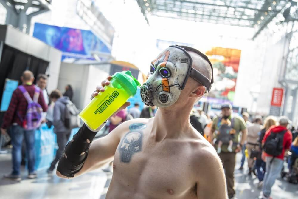 borderlands psycho cosplay at new york comic con 2019