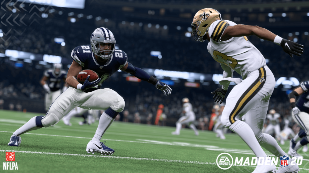 Dallas Cowboys halfback Ezekiel Elliott in Madden 20