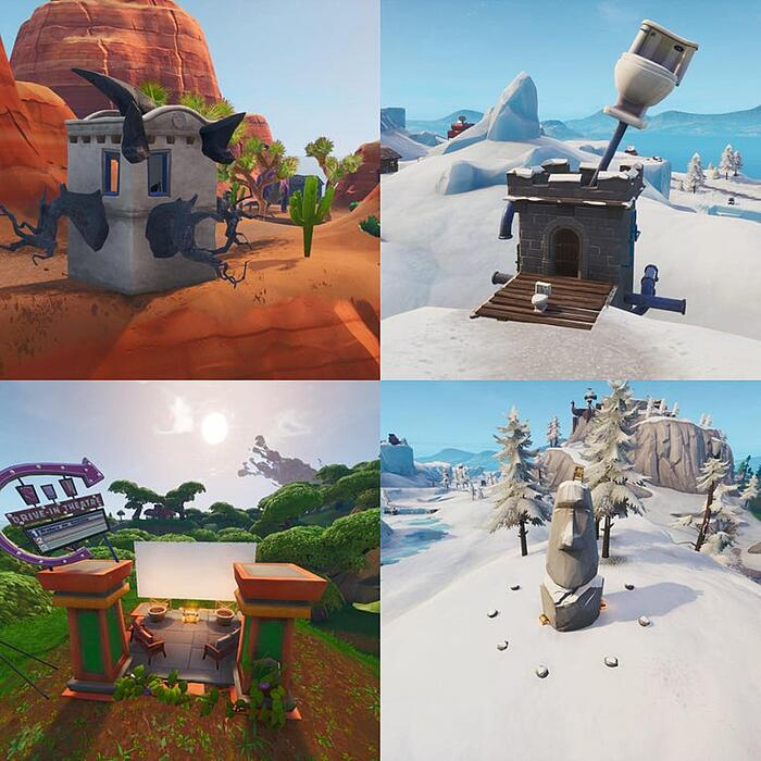 fortnite season x map changes