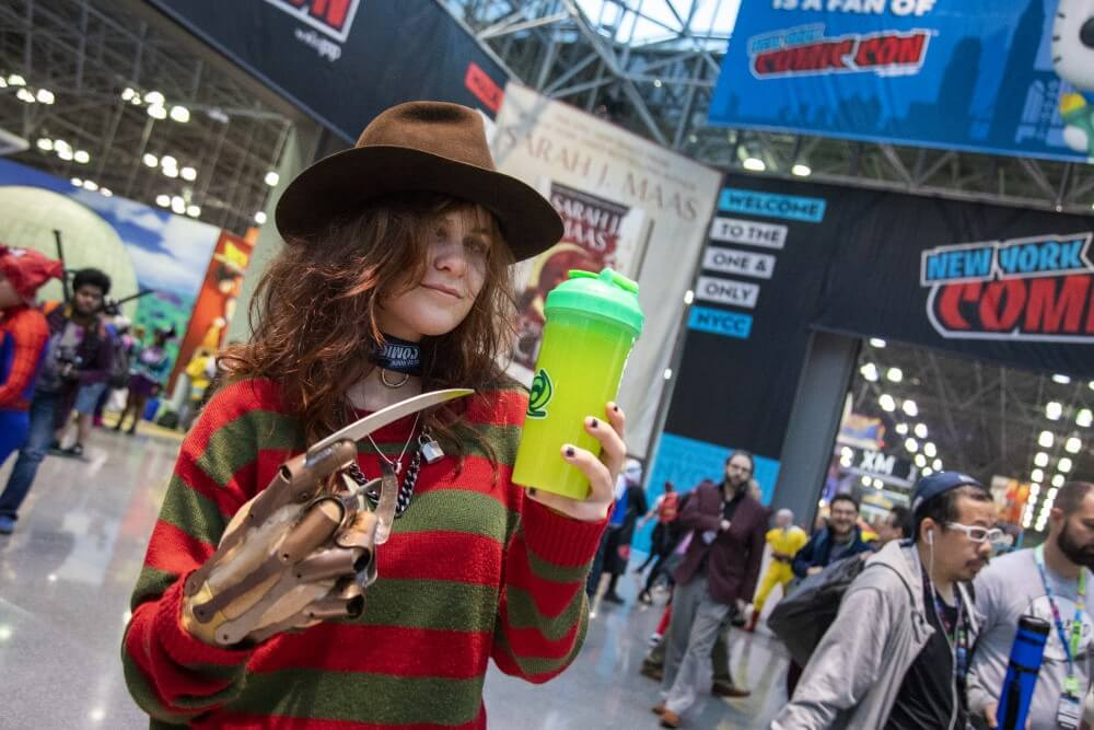 freddy krueger cosplay at new york comic con 2019