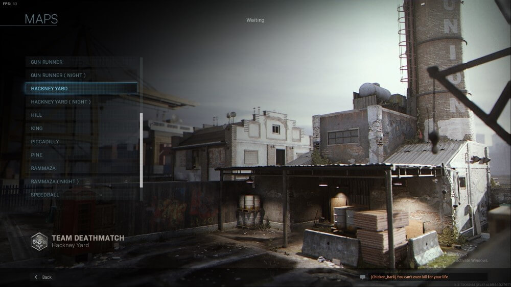 hackney yard map in call of duty modern warfare