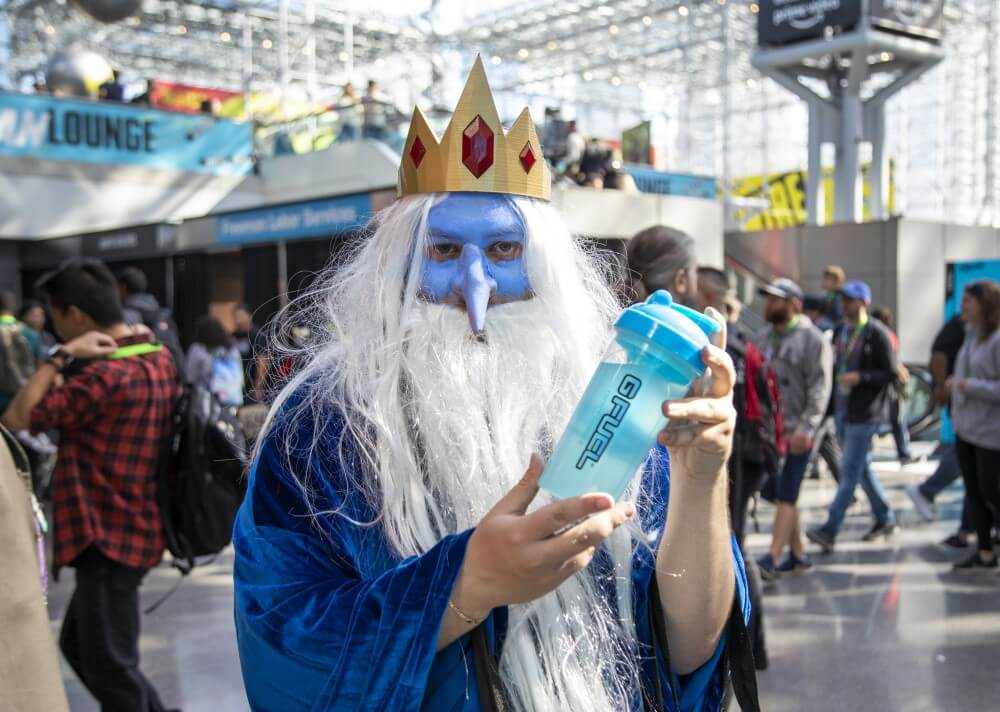 ice king from adventure time cosplay at new york comic con 2019