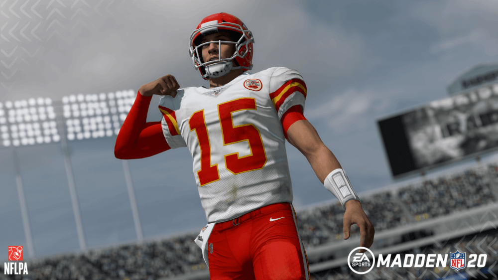 Kansas City Chiefs quarterback Patrick Mahomes in Madden 20