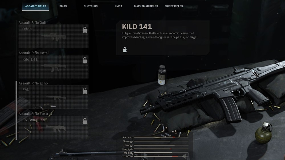 kilo 141 assault rifle from call of duty modern warfare