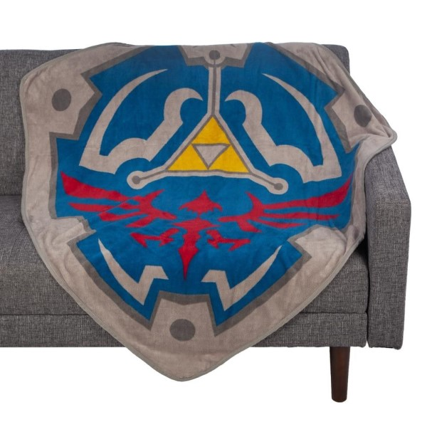 legend of zelda: the ultimate defence hylian shield fleece blanket