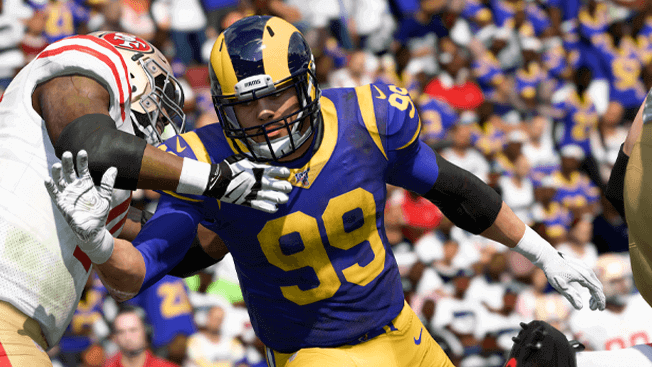 aaron donald from the los angeles rams in madden 20