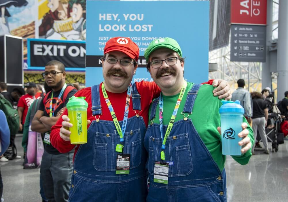 mario and luigi cosplays at new york comic con 2019