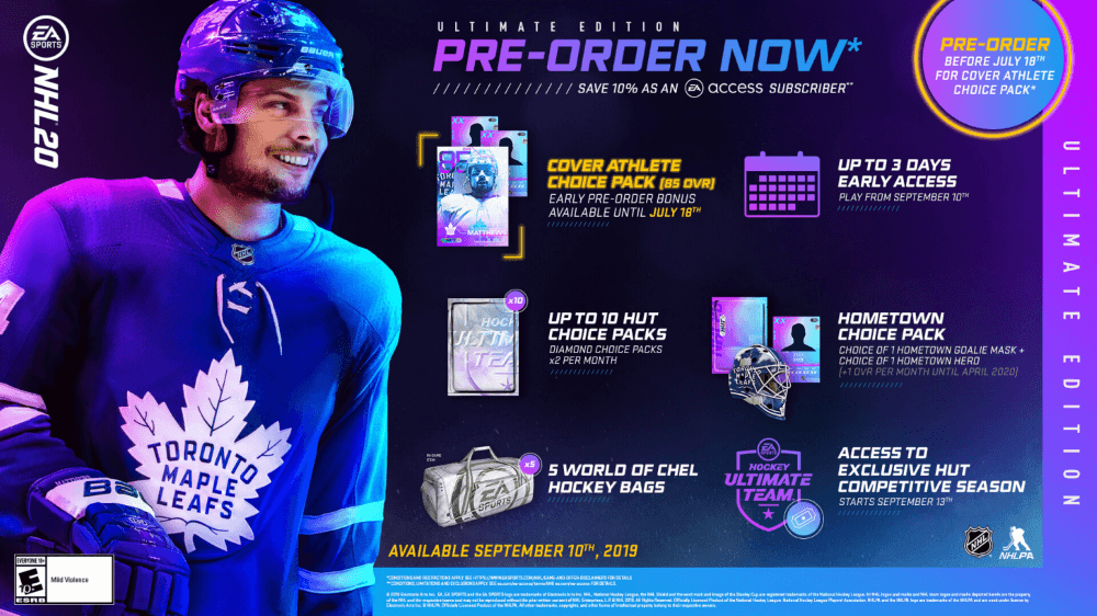 NHL 20 ultimate edition pre-order now