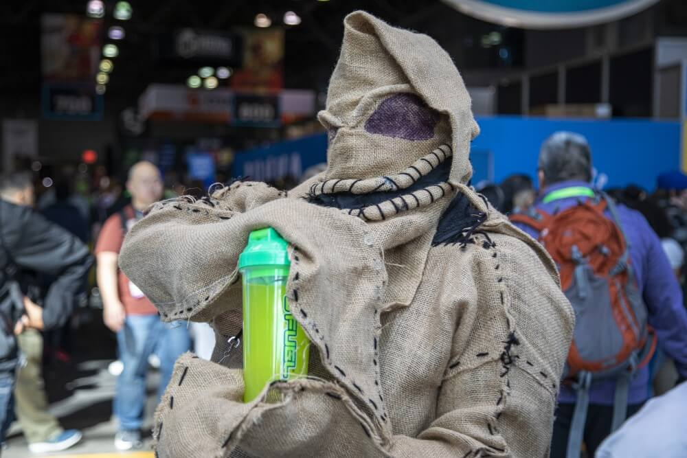 the nightmare before christmas oogie boogie cosplay at new york comic con 2019