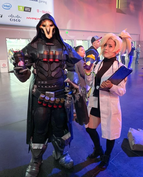 reaper and mercy from overwatch