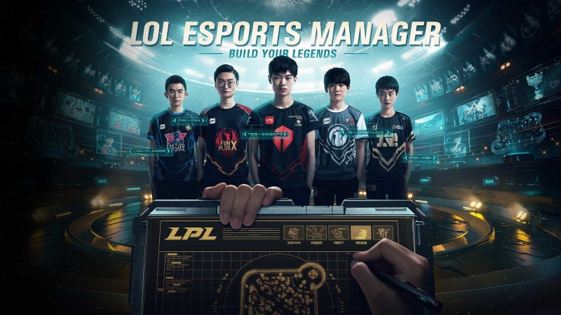 Riot Games League of Legends Esports Manager build your legends