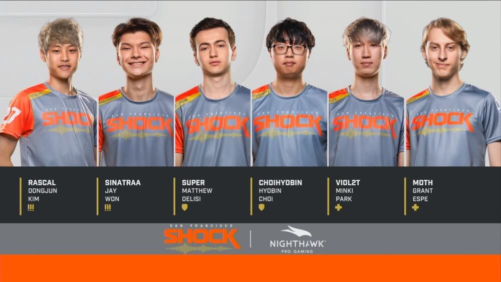 san francisco shock's roster for owl grand finals 2019 includes rascal, sinatraa, super, choihyobin, viol2t, and moth.