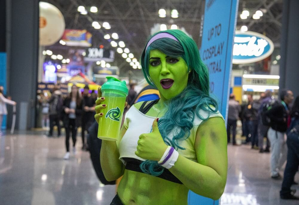 she-hulk cosplay at new york comic con 2019