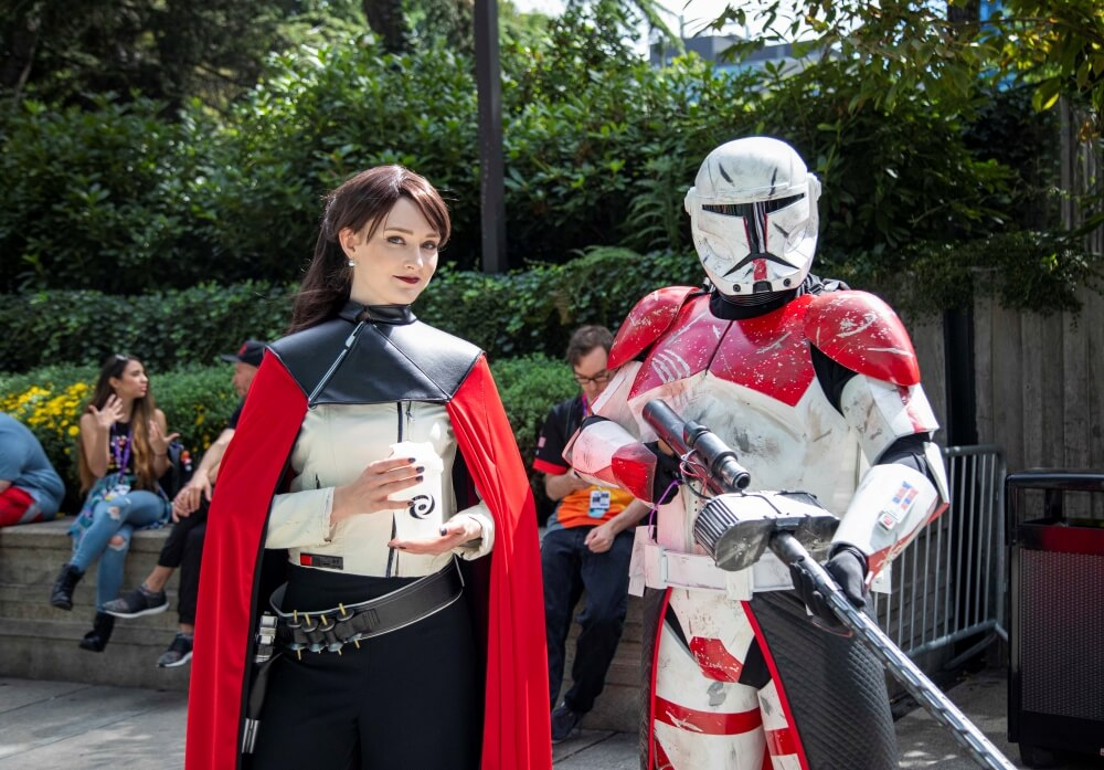 star wars commander and trooper cosplays at pax west 2019