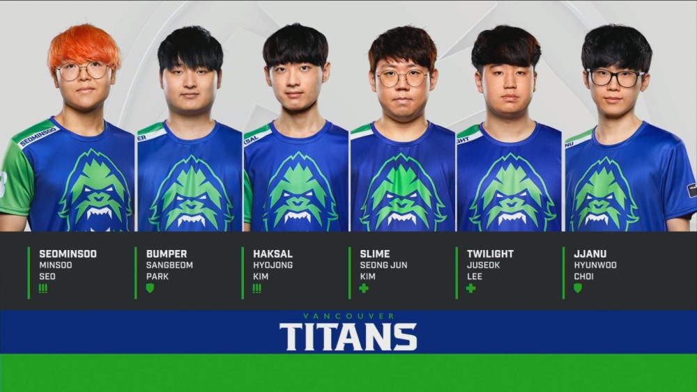 vancouver titans owl grand finals 2019 roster includes seominsoo, bumper, haksal, slime, twilight, and jjanu.