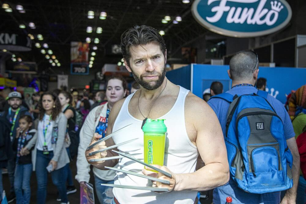 wolverine cosplay at new york comic con 2019